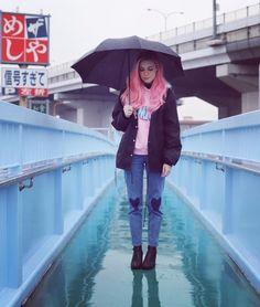 Rainy bridge ☔️ Marzia Bisognin | Osaka, Japan