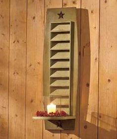"""#230553018 22"""" Sage Green Shutter Candle Sconce by sensationaltreasures"""