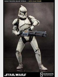 Star Wars Deluxe Actionfigur 1:6 Sixth Scale Veteran Clone Trooper 32 cm