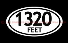 "x1 ""1320 Feet""  For the Street Outlaw in YOU. hot rod, rat rod, decals.Badass…"