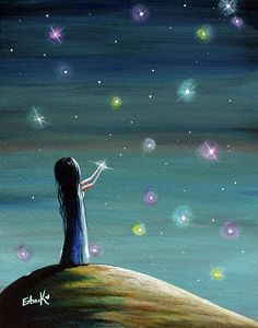 Fantasy Painting Painting - Keeping Her Dreams Alive Fantasy Painting by Shawna Erback