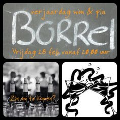 Borrel with friends uitnodiging