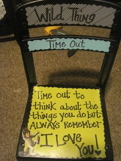 Where the wild things are themed time out chair
