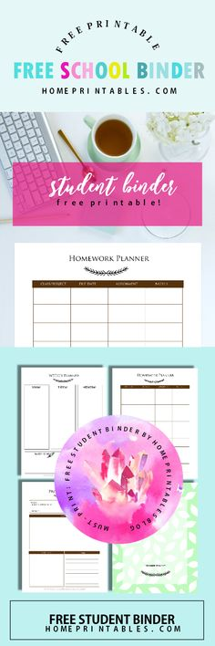 Calling all students! Get this free student binder printable. It's great to have the copies in school!