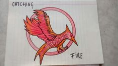 The Hunger Games: Catching Fire dibujo Catching Fire, Hunger Games, Rooster, Animals, Drawings, The Hunger Games, Animais, Animales, Animaux