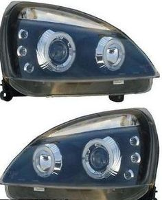 #Black #angel eye twin headlights   - renault clio mk2 01-05 and campus #05-08,  View more on the LINK: http://www.zeppy.io/product/gb/2/272450403627/