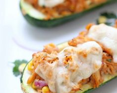BBQ Chicken Stuffed Zucchini – Low Carb