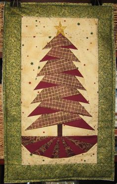 """Artist: Linda Mitchell Highley: """"This wall handing was my first attempt at paper piecing. I love how crisp the points are using this technique."""""""