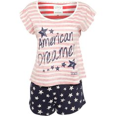 Soul Cal Deluxe American Dream Pyjamas ($29) ❤ liked on Polyvore