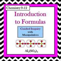 Chemistry periodic table trends guided inquiry lesson chemistry chemistry introduction to formulas guided inquiry lesson urtaz Images