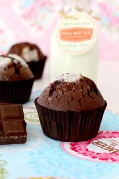 Discover with me this traditional recipe for fluffy chocolate muffins. Chocolate Sin Gluten, Chocolate Muffins, Chocolate Coffee, Chocolate Cupcakes, Biscuits, Pie Pops, Cheesecake Cake, Gluten Free Desserts, Sweet And Salty