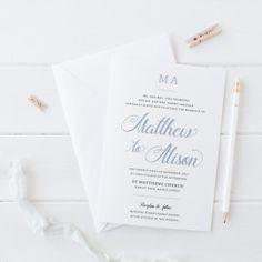 Modern Wedding Invitations with monogram. Professionally Printed on Premium Cardstock, Peach Perfect Australia. #wedding #invitation #paperporn #peachperfect