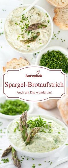 Spargel Rezepte : Spargel Brotoaufstrich und Dip – Lecker auf der Stulle Asparagus recipes: asparagus bread spread and dip – delicious on the casserole Asparagus Recipe, Asparagus Casserole, Diet Recipes, Healthy Recipes, Cheese Snacks, Almond Flour Recipes, Breakfast Lunch Dinner, Spring Recipes, Pastries