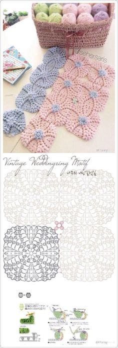 lots of doily patterns. Filet Crochet, Mandala Au Crochet, Crochet Motifs, Crochet Chart, Crochet Squares, Thread Crochet, Crochet Stitches, Crochet Patterns, Dress Patterns