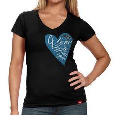 Sportiqe Orlando Magic Ladies Vintage V-Neck T-Shirt - Black