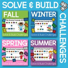 Students will love these LEGO compatible building challenges.First, students choose a task card. Then, using the provided Block Code, students will decode building prompts and then use bricks to complete the challenge!These engaging STEM activities are fantastic for boosting visual discrimination sk... Lego Therapy, Stem Projects For Kids, Code Breaker, Stem Activities, Task Cards, Bricks, Prompts, Lesson Plans, Homeschool