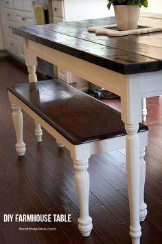 diy farmhouse kitchen table farmhouse kitchen tables farmhouse kitchens and homemaking. Interior Design Ideas. Home Design Ideas