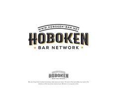 #Logo #design for Hoboken-bar.net. Great Logo Design, Hoboken Bars, Bar Scene, Barnet, Logo Design Contest, Logos, Modeling, 3d, Style
