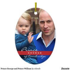 Prince George and Prince William Ceramic Oval Ornament