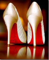 Red sole bridal shoes