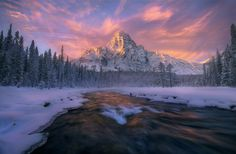 Embrace of Light by Marc  Adamus on 500px  The waterflow - like a painting. Amazing choice of time.