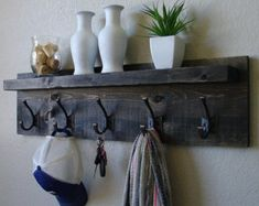 Pallet Coat Rack Entryway Shabby Chic