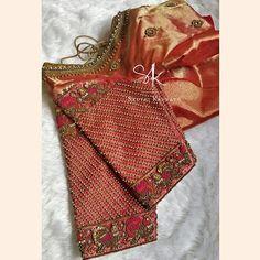 Choli Blouse Design, Wedding Saree Blouse Designs, Pattu Saree Blouse Designs, Half Saree Designs, Fancy Blouse Designs, Blouse Neck Designs, Sleeve Designs, Blouse Patterns, Embroidery Neck Designs