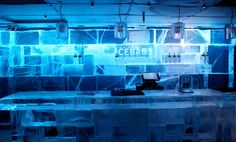 IceBar in Stockholm by IceHotel. At Nordic Sea Hotel in Stockholm. #bar #ice #icebar #stockholm