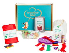 7 gift subscription box ideas for kids - Wonder Box is filled with preschool craft projects that help teach kindergarten skills.