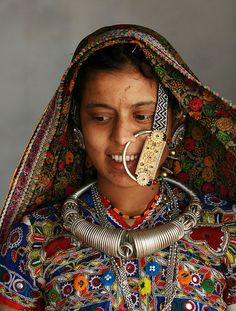 Meghwal young woman in the village of Hodka. One of the hidden tribes in Gujarat, North India