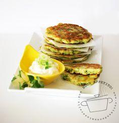 cucinando con mia sorella: Frittelle di Zucchine Romanesche con Dip allo Yogurt -Oggi Cucino Io-