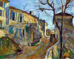 urgetocreate: William Henry Johnson, Street in Cagnes-Sur-Mer, ca. African American Artist, American Artists, Henry Johnson, Cagnes Sur Mer, Chaim Soutine, Environment Painting, Amazing Paintings, American Modern, Post Impressionism