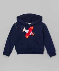 Look at this Navy & Red Plane Hoodie - Infant & Toddler on #zulily today! DoodlePants