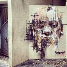 Urban art in France by Borondo #borondo #streetart #france