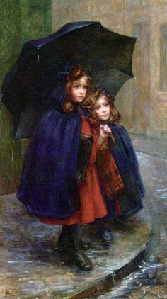 Marthe Marie Louise Boyer-Breton (1879-1926) - Off to school