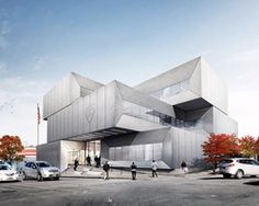 bjarke ingels group reveals plans for stacked concrete NYPD 40th precinth police station in the bronx