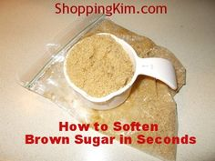 Did your brown sugar turn hard as a rock? This simple trick will soften brown sugar in under 30 seconds so it's ready to use in any recipe.
