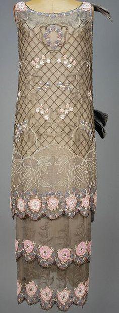 Sincere Antique Tan Net Pink Green Floral Multi Color Fringe Glass Bead Flapper Purse Bags, Handbags & Cases Vintage