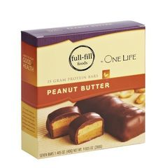 Peanut Butter Protein Bars, High in Protein, Low in Carbs-One Life Diet (7 Bars Per Box) by Healthwise