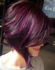 Dark Purple Hair Dye for Short Hair
