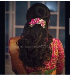 Wedding Hairstyles Throughout History – Model Hairstyles Bridal Hairstyle Indian Wedding, Bridal Hair Buns, Bridal Hairdo, Hairdo Wedding, Indian Wedding Hairstyles, Short Wedding Hair, Saree Hairstyles, Open Hairstyles, Bride Hairstyles