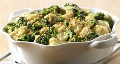 Broccoli Cauliflower Casserole minus the bread crumbs & onions this will be a yummy Low Carb side dish.
