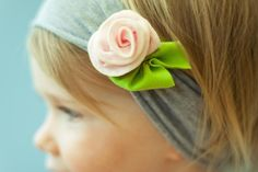 petite rose SNUGARS headband baby toddler infant by snugars