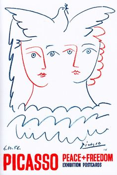 Picasso Exhibition Peace Dove Tate - - Yahoo Image Search Results Pablo Picasso, Picasso Drawing, Picasso Art, Picasso Paintings, Painting & Drawing, Picasso Dove Of Peace, Peace Dove, Vintage Postcards, Les Oeuvres