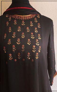 Hand embroidered butis
