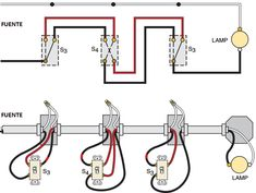 Basic Connections of Electrical Switches Electrical Switch Wiring, 3 Way Switch Wiring, Electrical Circuit Diagram, Electrical Projects, Electrical Installation, Electrical Engineering, Electrician Work, Refrigeration And Air Conditioning, Three Way Switch