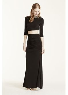 Two Piece Beaded Collar Crop with Jersey Skirt 8415RJ5C