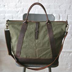 Canvas Weekend Bag Army.