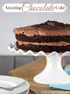 Amazing Gluten Free Chocolate Cake from The Baking Beauties will have to try for my gluten free friends!