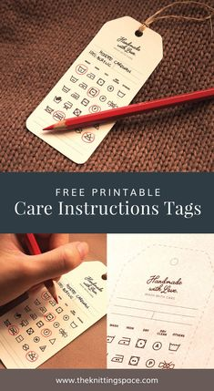 Sign-up now and receive free printable Care Instructions Tags plus daily emails with FREE knitting pattern directly to your inbox. Free Printable Gift Tags, Free Printables, Knitting Patterns Free, Free Knitting, Selling Crochet, Tie Dye Crafts, Crochet Christmas Decorations, Quilt Labels, Shops